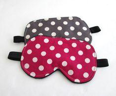 Polka Dots Eye mask Sleep mask Eye sleep mask Travel by BowFantasy