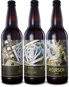 Bottle Logic Recursion IPA - designed by Emrich Office