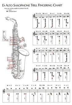 Saxophone Notes, Saxophone Music, Soprano Saxophone, Music Chords, Tenor Sax, Piano Music, Partition Saxophone Alto, Partitions Saxophone, Alto Saxophone Fingering Chart
