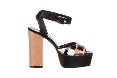 vintage pattern leather sandal - fiorifrancesi