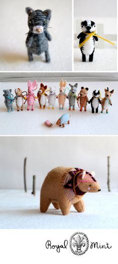 ROYALMINT: Sabina is the artist behind RoyalMint. She lives in Montreal, Quebec, in an old textile factory and she creates cute miniature soft sculptures.