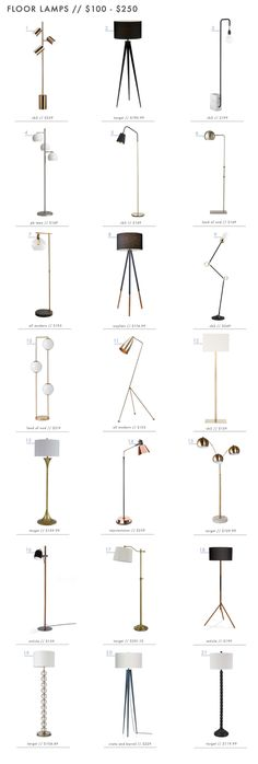 Lighting is important so we rounded up our favorite floor lamps