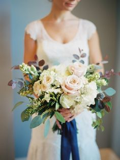 """""""I think people should treat themselves to fresh flowers once a week. If not that, bring the outside in with succulents, air plants, or a terrarium."""" #weddingvendor #interview #bouquet #wedding #mississippi"""