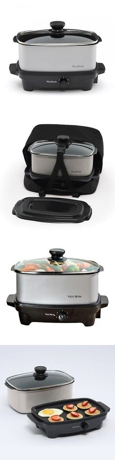 Cookers and Steamers 20672: Westbend 84915 Versatility 5 Qt. Oblong Slow Cooker With Printed Thermal Tote -> BUY IT NOW ONLY: $49.99 on eBay!