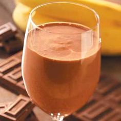 Chocolate Banana Smoothie (Made With 1 Banana, 1 Tablespoon Cocoa Powder, 1 Teaspoon Coffee Powder, 1/4 Cup Oatmeal, 1 Tablespoon Protein Powder, 2 Tablespoons Honey, Pinch of Salt, 10 Ice Cubes and 1 Cup Milk) [Made June 10, 2012]