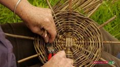 Expert basket maker Jackie Sweet shares her passion for this craft whilst weaving a small basket with two different colours of willow here at Special Branch ...