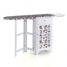 Mueble plancha madera blanco circulos muebles para - Mueble de plancha ...