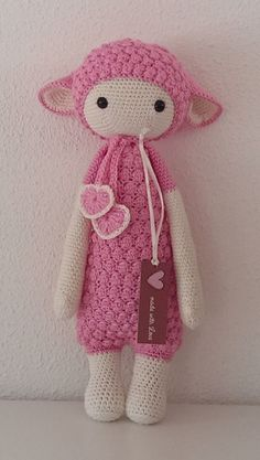 Leuke kleur Lalylala lupo Animaux Au Crochet, Crochet Doll Pattern, Crochet Patterns Amigurumi, Crochet For Kids, Crochet Baby, Easter Crochet, Crochet Gifts, Cute Crochet, Knit Crochet