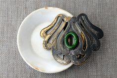 Victorian Art Nouveau Sash Buckle by tippleandsnack
