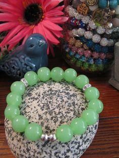 New Rustic Spring Green Artisan Glass 12mm Beaded Stack Cuff Bracelet | Jewelry & Watches, Fashion Jewelry, Bracelets | eBay!