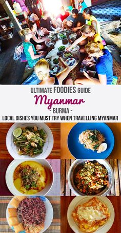 Best Local Foods to try in Myanmar. Travel tips for finding real local food and Burmese recipe inspiration. Explore the World and Decide to go ! Myanmar Food Recipe, Burmese Food, Burmese Recipes, Tea Leaf Salad, Myanmar Travel, Asia Travel, Asian Recipes, Ethnic Recipes, Curry Recipes