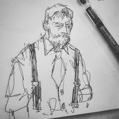 More #drawing nonsense at @haberdashersj  this time of one of the bartenders because why the hell not. #doodle #sketch #DTSJ