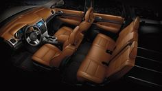 Jeep® Grand Cherokee Overland Summit with New Saddle leather-trimmed interior.