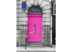 If I lived in Dublin, my door would be the brightest pink ever.
