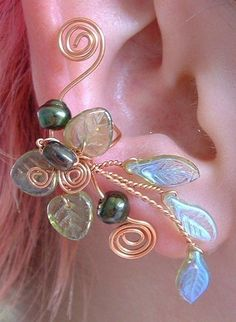 Ice Princess Elven Forest Ear Cuff