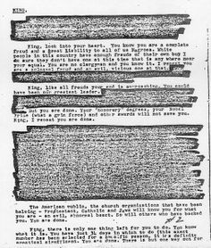 "COINTELPRO was another illegal covert operation carried out on US citizens, in this case by the FBI. Under directions from J Edgar Hoover, COINTELPRO sought to ""expose, disrupt, misdirect, discredit, neutralize or otherwise eliminate"" people and organisations deemed a threat to the ""social and political order"". These threats included anti-war protestors and civil rights activists, like Martin Luther King, or any political organisation considered subversive."