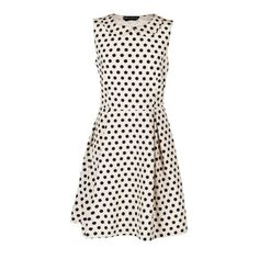 Rochas Print Polka Dot Dress ($1,575) ❤ liked on Polyvore