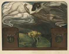 Electricity (A plate from Gerlachs Allegories) by Ignatius Taschner, 1898