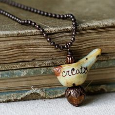 Birds with Words Necklace create by kylieparry on Etsy, $22.00