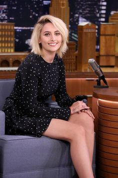 Paris Jackson Makes Her Late Night Debut in the Perfect LBD Celebrity Dresses, Celebrity Photos, Celebrity Style, Kate Moss, Paris Jackson Age, Michael Jackson Daughter, Famous Women, Fashion Models, Queens
