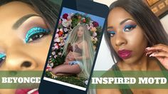 Beyonce 2017 Inspired Glitter Purple and Blue Cut Crease| Eyeliner Cut Crease , Bey Hive Inspiration, Formation, Blue Ivy, Beyonce Quote, Beyonce Twins