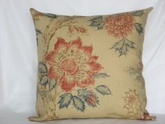 Beige  Burgundy  Blue  Red  Linen pillow cover  by Irenaworks, $20.00