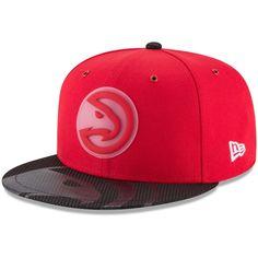 reputable site ed71d 638cc Men s Atlanta Hawks New Era Red Team Color On-Court 9FIFTY Snapback  Adjustable Hat