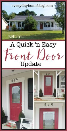 In just three easy steps, you can easily update your front door in a few hours   The Everyday Home   everydayhomeblog.com