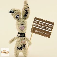 Don't count the days, make the days count. Muhammad Ali - R. Ali Quotes, Wish Quotes, Happy Wishes, Muhammad Ali, Counting, Rabbit, Teddy Bear, Crochet, Mini