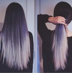 71 most popular ideas for blonde ombre hair color - Hairstyles Trends Dyed Hair Pastel, Lilac Hair, Trendy Hairstyles, Straight Hairstyles, Blue Hairstyles, Dipped Hair, Ombre Hair Color, Hair Colour, Black Hair Ombre