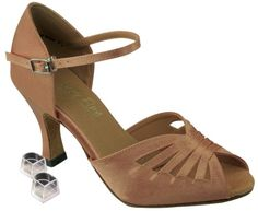 Very Fine Womens Salsa Ballroom Tango Latin Dance Shoes Style 2709 Bundle with Plastic Dance Shoe Heel Protectors Brown Satin 45 M US Heel 3 Inch -- Details can be found by clicking on the image.(This is an Amazon affiliate link and I receive a commission for the sales)