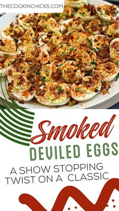 These Smoked Deviled Eggs are a show stopping twist on an old classic! Perfectly flavorful and the perfect appetizer to accompany any meal! Stuffed Jalapenos With Bacon, Stuffed Peppers, Smoked Deviled Eggs Recipe, Traeger Bbq, Beef Tenderloin, Dessert Drinks, How To Cook Eggs, Game Changer, Fabulous Foods