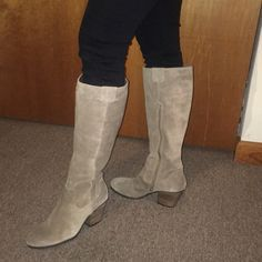 ccf5377f15 AEROSOLES Shoes | Nwt Aerosoles Genuine Suede Leather Heeled Boots | Color:  Cream/Tan | Size: 9