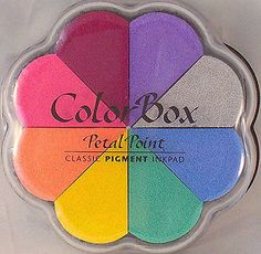 PETAL-POINT-ColorBox-PIGMENT-stamp-pad-8-color-ink-set-removeable-inkpads-rubber