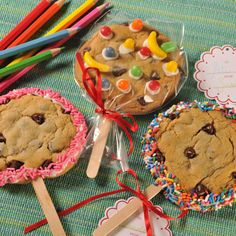 This Cookie On A Stick recipe is perfect to collaborate on with your kids -- As much fun to make as they are to eat. Let the creative juices flow! Also a great idea for a holiday cookie!