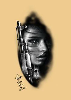 girl face ak47