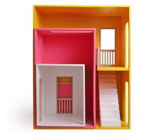 Hase Weiss beautiful and modular dollhouses come in a rainbow of pretty colors and can be reconfigured in countless ways. Wooden Dollhouse, Diy Dollhouse, Miniature Rooms, Montessori Toys, Built In Shelves, Barbie House, Wood Toys, Fairy Houses, Little Houses