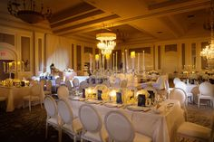 Wedding with chandeliers and candelabras.Four Seasons Wedding by Las Vegas Wedding Planner Andrea Eppolito. Image by AltF Photography. Decor by DBD Vegas.
