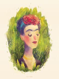 FRIDA KAHLO by Rafael Mayani, via Behance