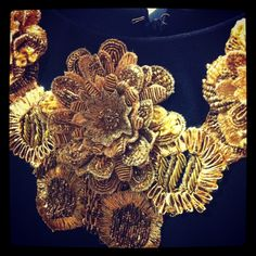 Gorgeous Embroidery from Alexander McQueen. My favorite designer