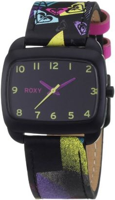 ac807d8f3cd Roxy Girls Analogue Stardust Watch W177BLDBLK With Leather Strap   Amazon.co.uk
