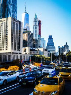 Downtown #Manhattan- view from Brooklyn Bridge. photo: Marek Rygielski