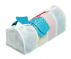 This lightweight micro-mesh laundry bag features four compartments to keep delicates safely separated when washing in the machine. Home Organisation, Storage Organization, Organizing, Mesh Laundry Bags, Wash Bags, Shoe Storage, Cleaning Solutions, Cool Gadgets, Home Furniture