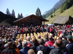 "Our culture and customs tip for the upcoming Friday is the ""Chästeilet"" (cheese-sharing) in the Justistal valley."