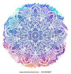 Flower Mandala. Vintage tattoo decorative elements. Oriental pattern, vector illustration. Islam, Arabic, Indian, moroccan,spain, turkish pakistan chinese mystic ottoman motifs Coloring book page