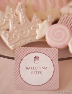 These would be perfect for a soft and pretty ballerina party.