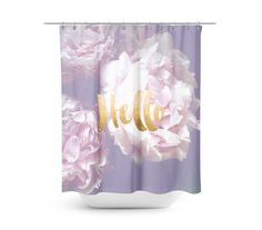Peony Floral shower curtain typography - fabric curtain, floral decor, spring, romantic Long Shower Curtains, Flower Shower Curtain, Floral Shower Curtains, Peony Flower, Flowers, Floral Photography, Curtain Fabric, Floral Fabric, Beautiful Bathrooms