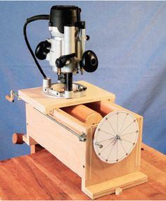 Router jig with index wheel