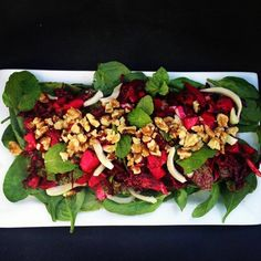 Beetroot, Fennel & Apple Salad with Mint and Walnuts