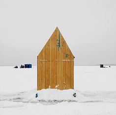 This gorgeous gallery of Canadian ice-fishing huts will have you reeling. #icefishing #ontario #canadiana #winter